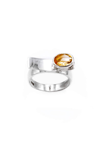 Citrine Balance Ring - Inaya Jewelry