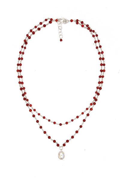 Coral Moon Necklace - Inaya Jewelry