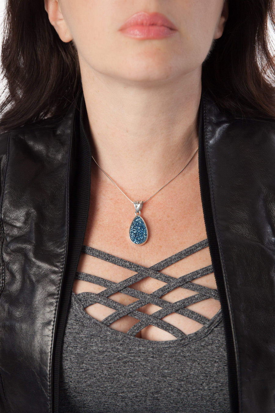 Medium Druzy Pendant - Inaya Jewelry
