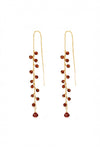 Garnet Stick Earrings - Inaya Jewelry