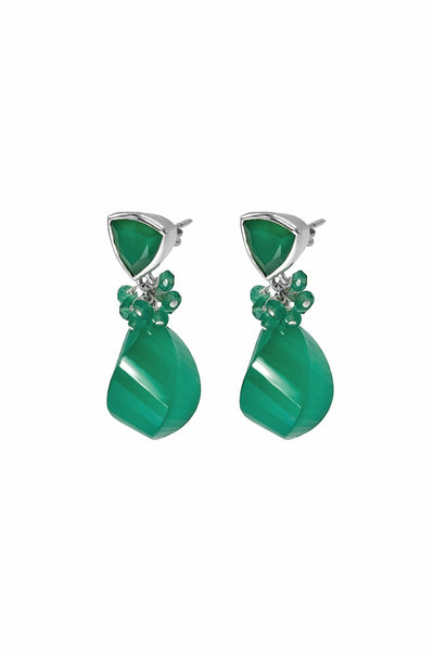 Green Onyx Fantasy Drop Earrings - Inaya Jewelry