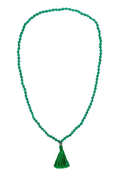 Green Onyx Mala Necklace - Inaya Jewelry