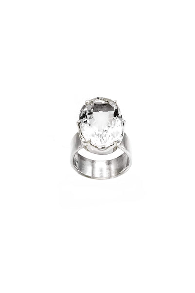 Himalayan Crystal Crown Ring - Inaya Jewelry