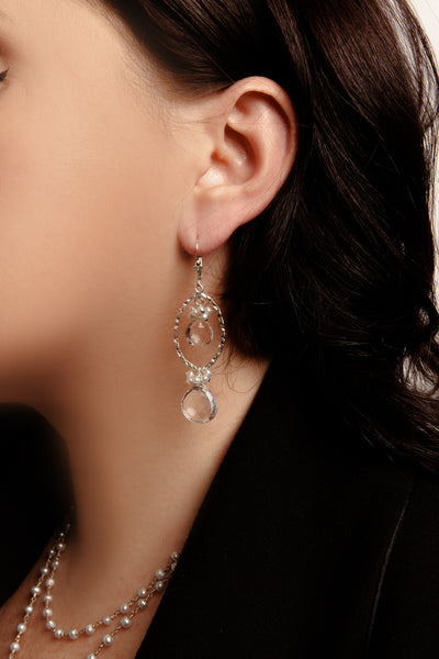 Icy Orbit Earrings - Inaya Jewelry