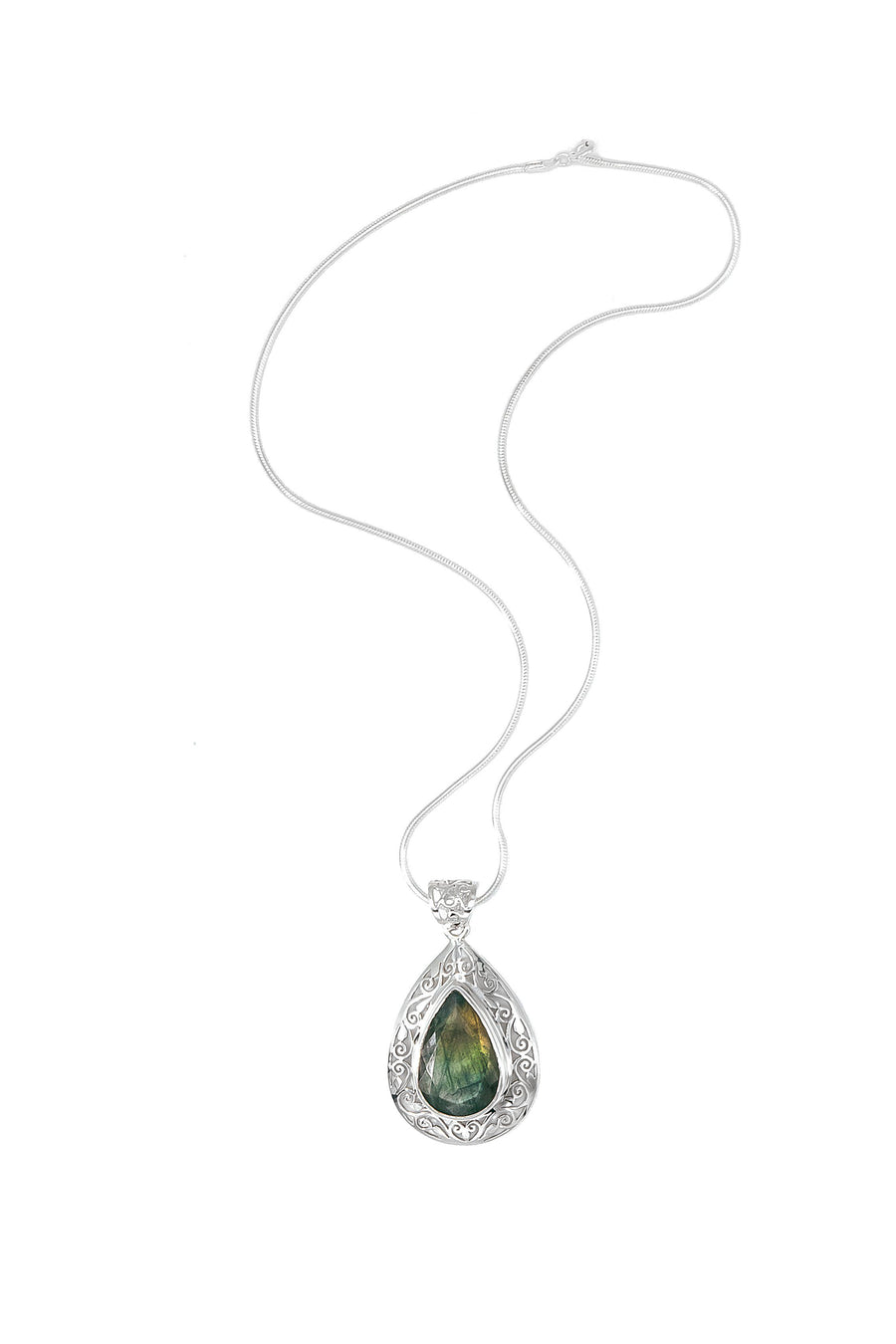 Faceted Labradorite Pendant - Inaya Jewelry
