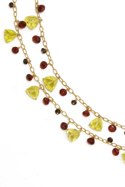 Lemon Bouquet Necklace - Inaya Jewelry