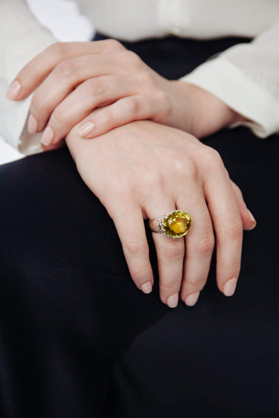 Lemon Topaz Ring - Inaya Jewelry