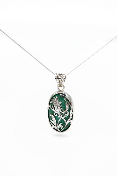 Malachite Pendant - Inaya Jewelry