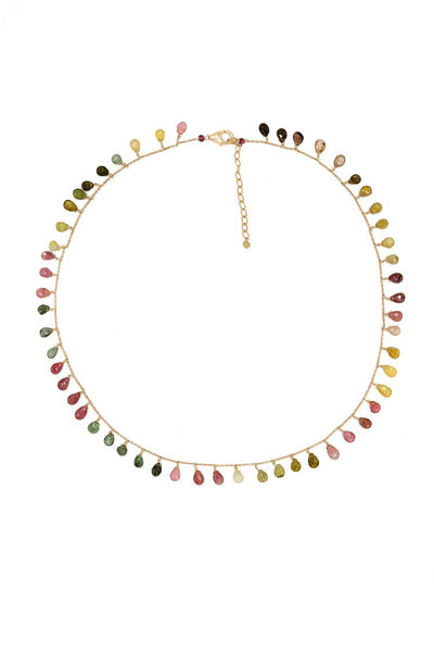 Watermelon Fall Tourmaline Necklace - Inaya Jewelry