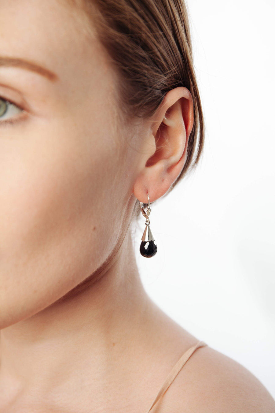 Black Onyx Teardrop Earrings - Inaya Jewelry