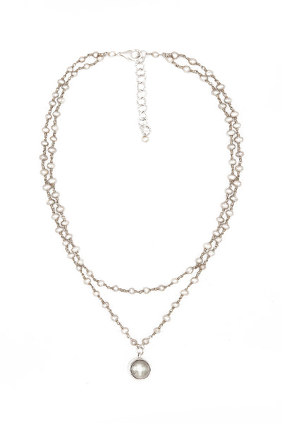 Pearl Cascade Necklace - Inaya Jewelry