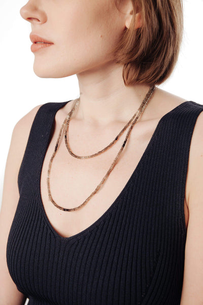 Shaded Smoky Topaz Necklace - Inaya Jewelry
