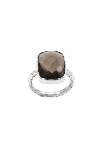 Smoky Topaz Fine Band Ring - Inaya Jewelry
