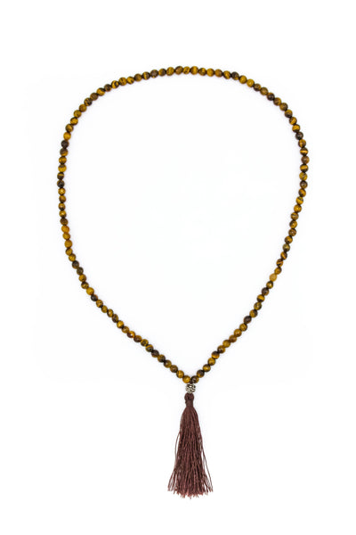 Tigers Eye Mala Necklace - Inaya Jewelry