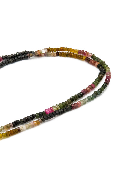 Watermelon Tourmalines & Lemon Topaz Lariat Necklace - Inaya Jewelry