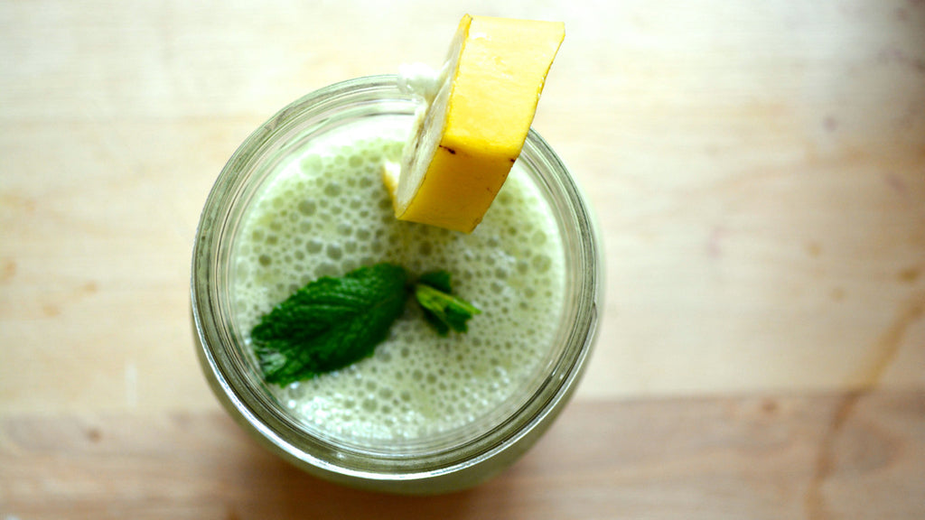 Matcha Banana Coconut Smoothie