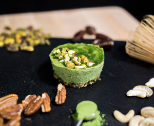 Vegan Matcha Pistachio Cheesecake Recipe from Toronto Canada Wholesale Tea Retailers Genuine Tea