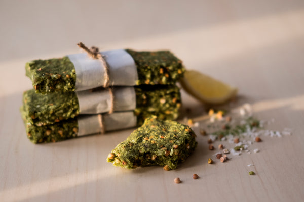 No Bake Matcha Protein Bars