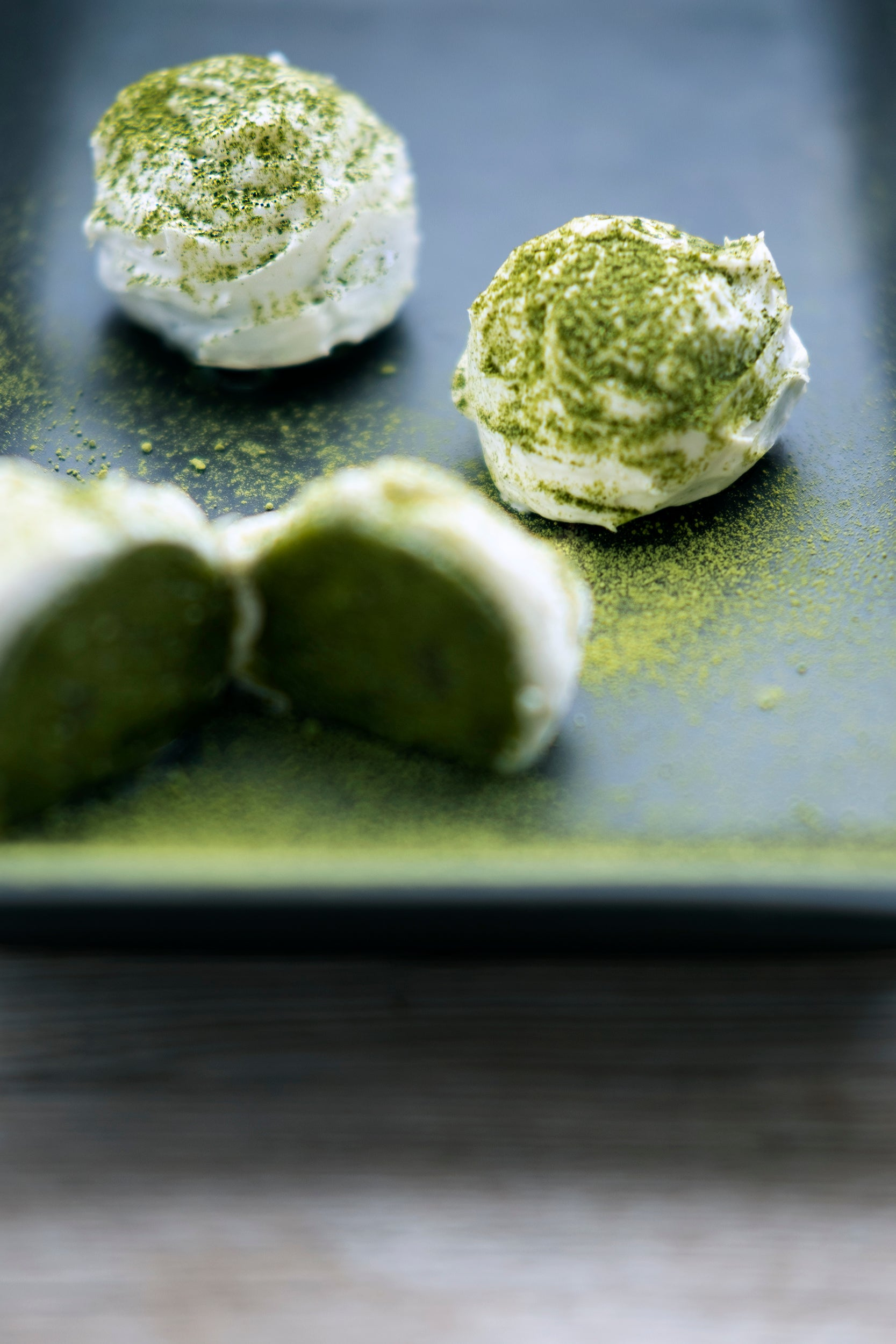 Frosted Matcha Truffles