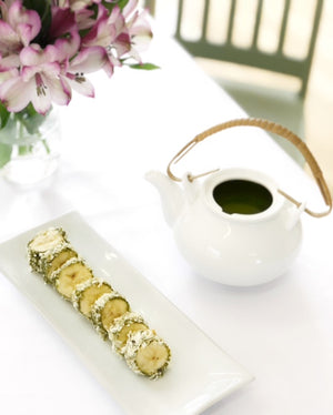 Matcha Banana Snack Bites Recipe from Toronto Canada Wholesale Tea Retailers Genuine Tea
