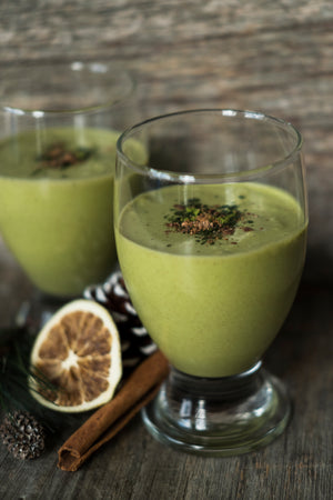 Festive Vegan Japanese Kato Matcha Coconut Non-Egg Nog Recipe from Toronto Canada Wholesale Tea Retailers Genuine Tea