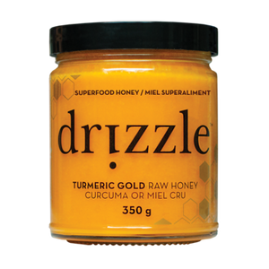 Drizzle Turmeric Gold Raw Honey - Anti-Inflammatory Blend - 350g - Genuine Tea