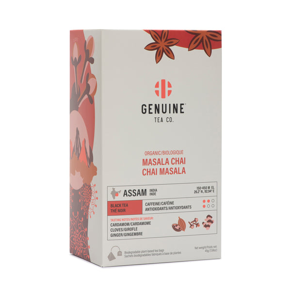 Pyramid Tea Bags - Organic Masala Chai - Genuine Tea