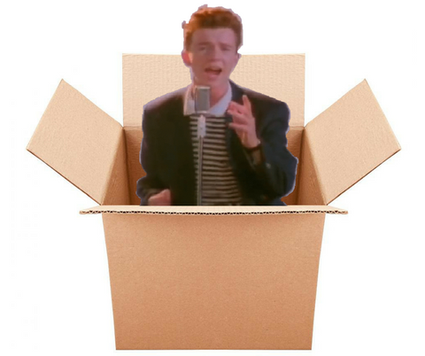 Send a Rick Roll in a Box - Free Shipping – RickRollByMail