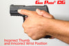 Gas Pedal Opposable Grip Thumb rest on Sig P320