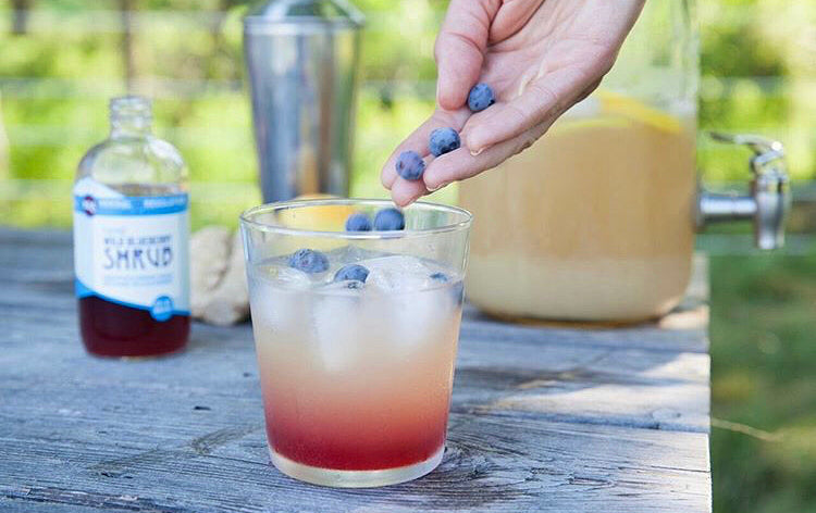 Blueberry Shrub with Lemonade