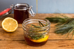 Lemon Zest Honey Simple Syrup