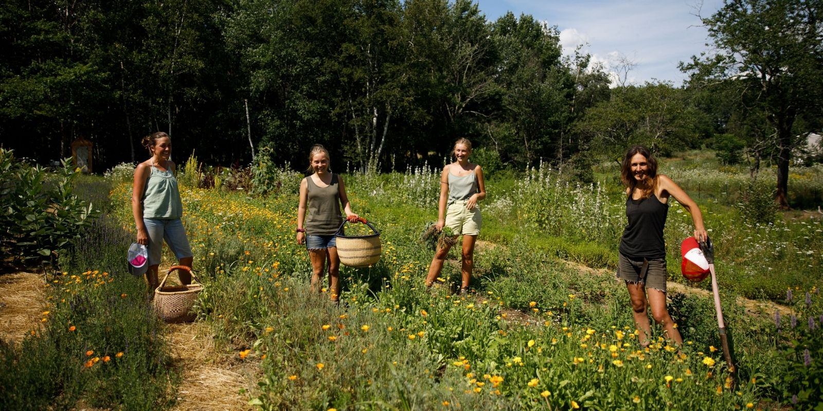 Herbal Revolution Organic Farm & Apothecary Farm Crew women farmers gardeners Maine medicine