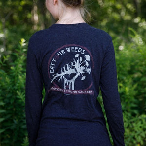 Eat Your Weeds || Long Sleeve Scoop || Vintage Black
