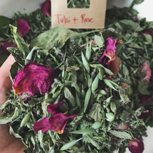 Tulsi + Rose Tea - Herbalrevolution