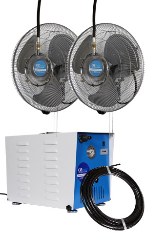 2 x 450mm Fan - High Pressure Misting Kit