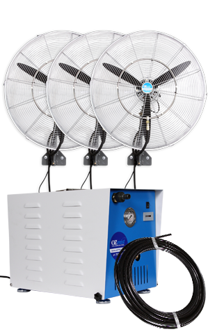 3 x 650mm Fan - High Pressure Misting Kit