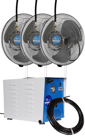 3 x 450mm Fan - High Pressure Misting Kit