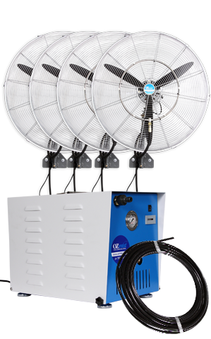 4 x 650mm Fan - High Pressure Misting Kit