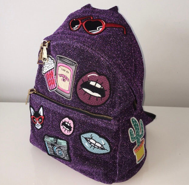 ONE OF A KIND PATCHWORK BACKPACK