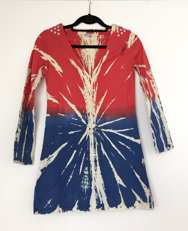 RED WHITE AND BLUE BEACH COVER-UP