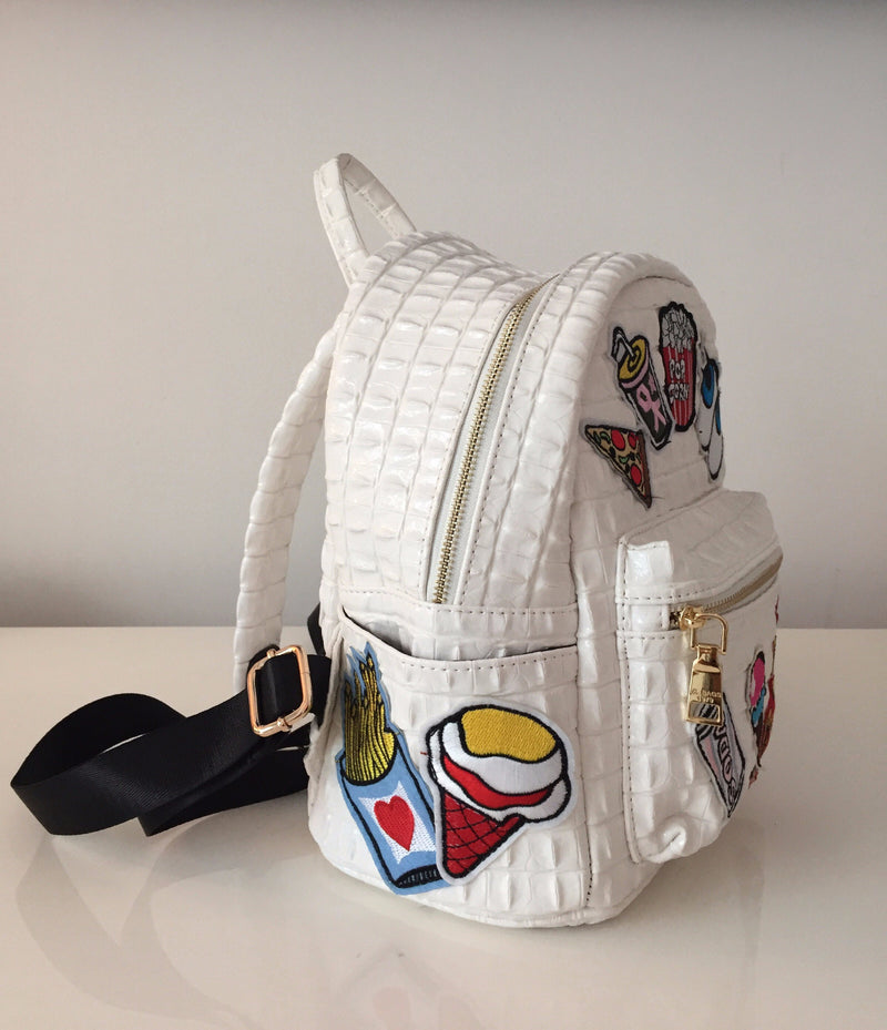ITALIAN LEATHER PATCHWORK BACKPACK