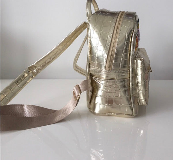 METALLIC GOLD BACKPACK