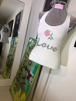"STRETCH RACERBACK ""LOVE"" TANK"
