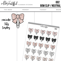 002 Bow Clip Sticker Sheet