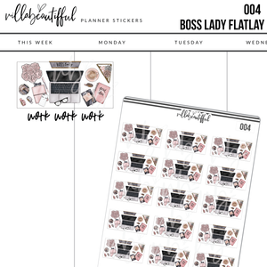 004 Boss Lady Flatlay Planner Stickers