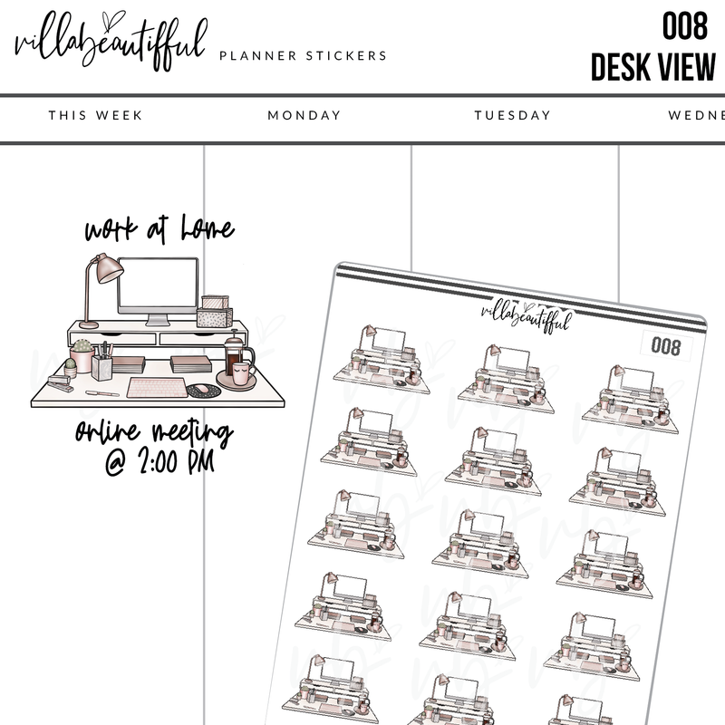 008 Desk View Planner Stickers
