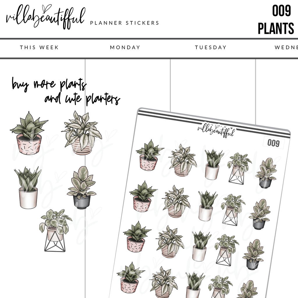 009 Plants Sticker Sheet