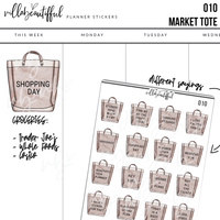 010 Market Tote Planner Stickers