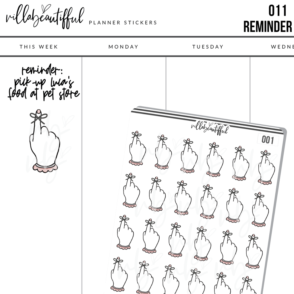 011  Reminder Planner Stickers