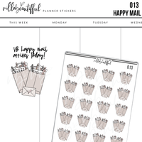 013  Happy Mail Planner Stickers